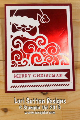 Detailed Santa Red Foil Card web