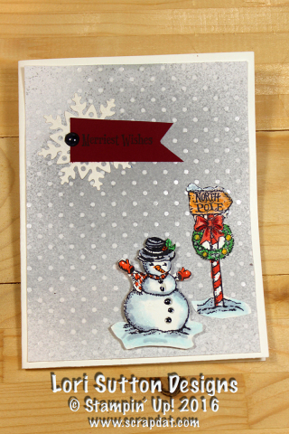 Christmas Magic Snowman Card web
