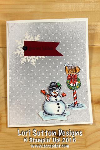 Christmas Magic Snowman Card web